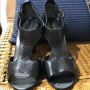 Nine West Leather Tstrap Heeled Sandals